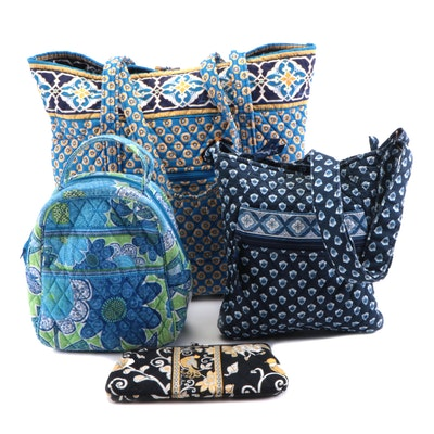 Vera Bradley Quilted Tote, Backpack, Cosmetics and Shoulder Bag