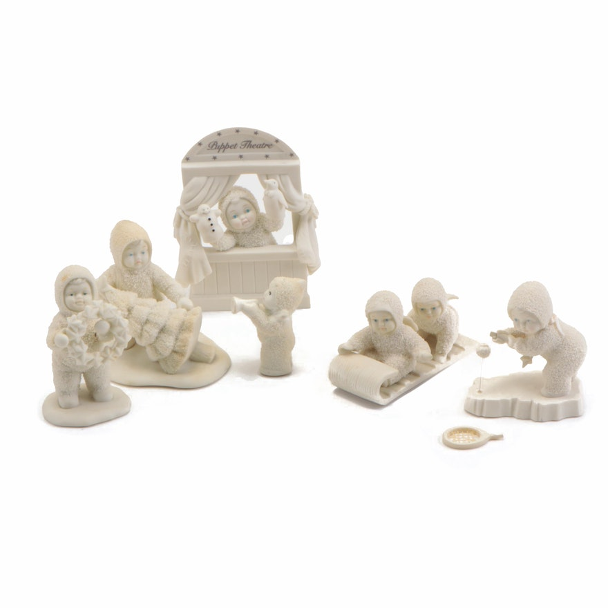 """Department 56 """"Let the Show Begin"""" and Other Porcelain Snowbabies Figurines"""