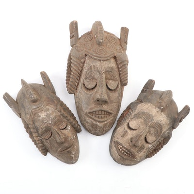 Ibibio-Igbo Style Handcrafted Wooden Masks, Nigeria