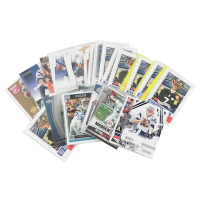 2000s Tom Brady, Peyton Manning, Drew Brees, and Ben Roethlisberger NFL Cards