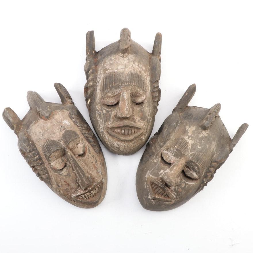 Ibibio-Igbo Style Handcrafted Wooden Masks, Nigeria