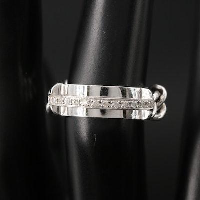14K Diamond Bar Chain Ring
