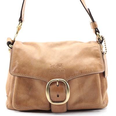 Coach Bleeker Shoulder Bag In Natural Leather