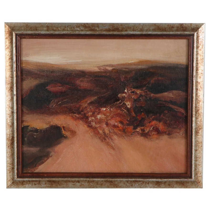Abstract Landscape Oil Painting, 1988