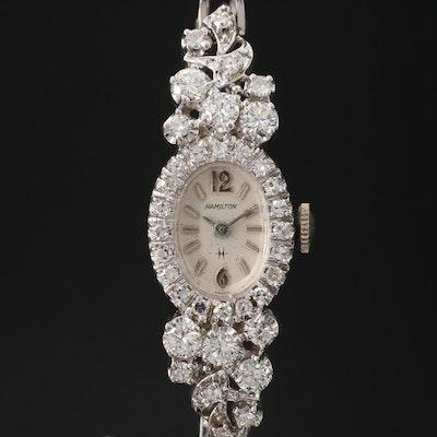 Hamilton 14K White Gold 2.00 CTW Diamond Wristwatch