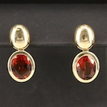 14K Garnet Dangle Earrings