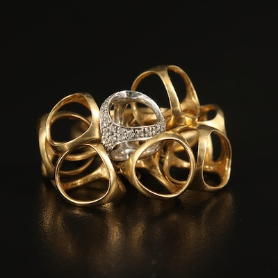 Di Modolo 18K Diamond Triadra Cluster Ring