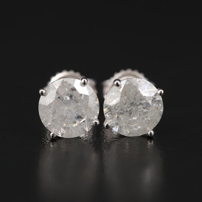 14K 4.33 CTW Diamond Stud Earrings