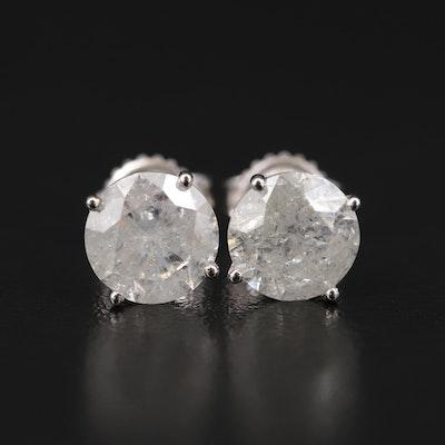 14K 4.33 CTW Diamond Stud Earrings