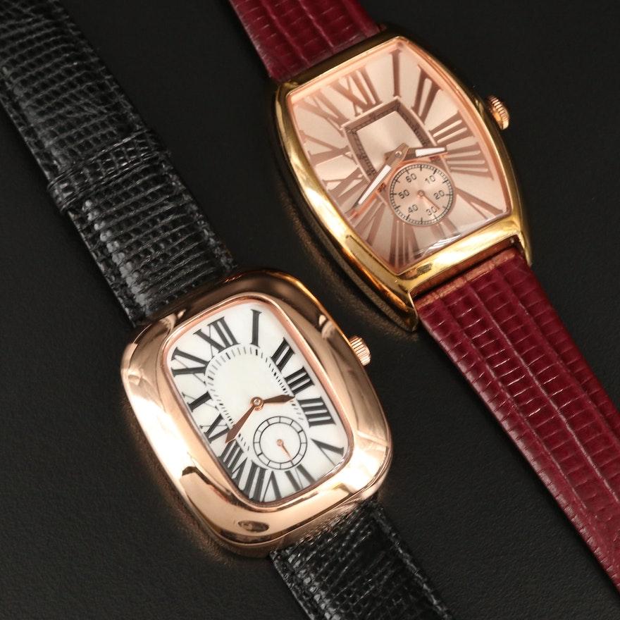 Rose Gold Tone Bronzo Italia Quartz Wristwatch