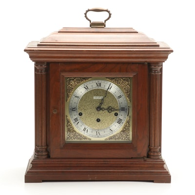 Seth Thomas Neoclassical Style Walnut Shelf Clock, 1985