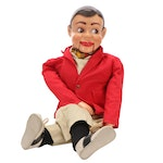 """Jerry Mahoney"" Ventriloquist Puppet Doll, Original Clothing, Mid-20th Century"