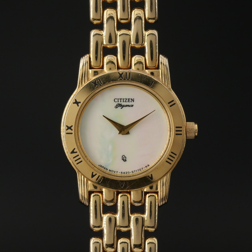 """Citizen """"Elegance"""" Mother of Pearl Dial Wristwatch"""