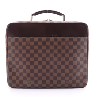 Louis Vuitton Sabana Laptop Bag in Damier Ebene Canvas and Accessory Pouch