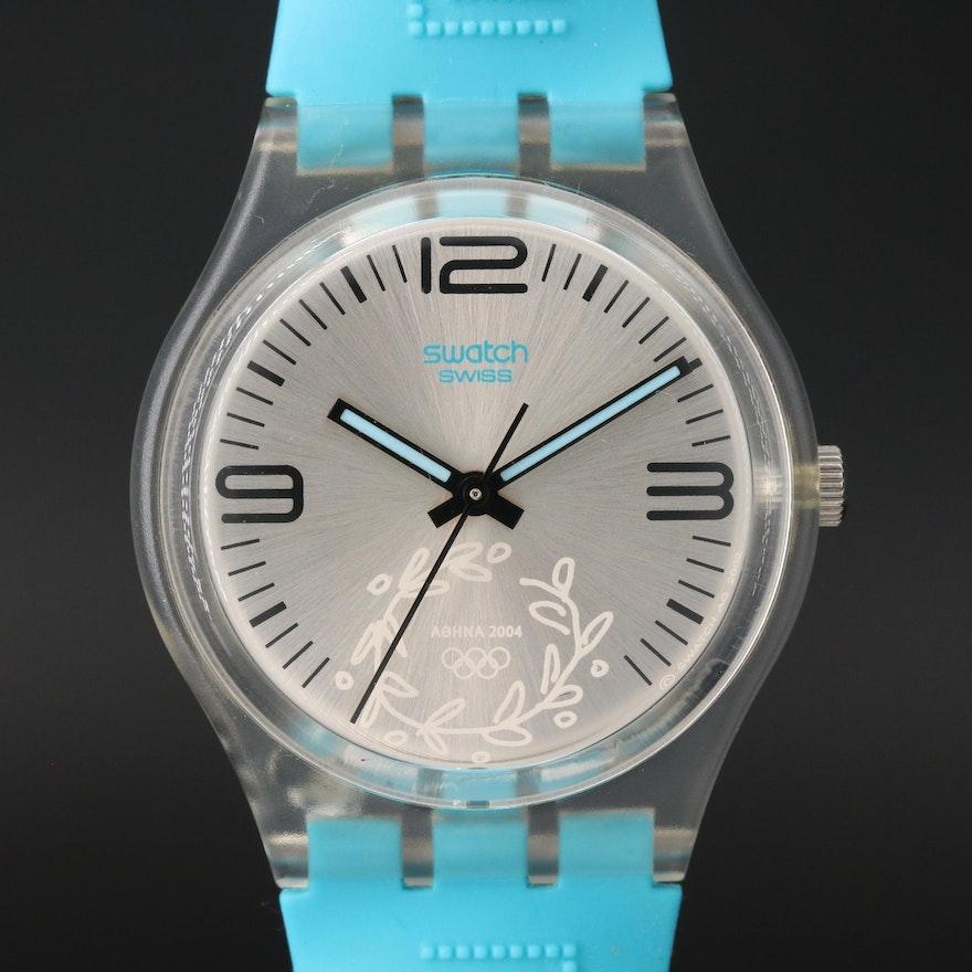 2004 Swatch Kalimera Quartz Wristwatch For Athens Summer Olympics