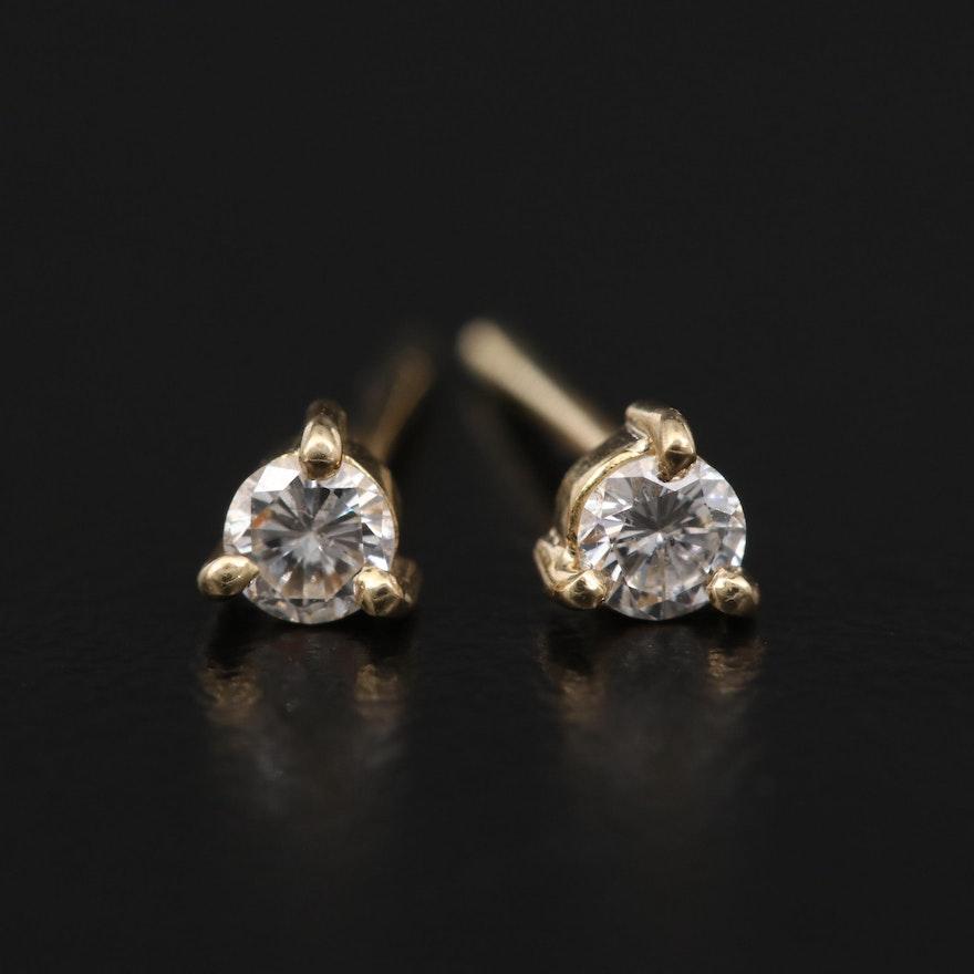 18K 0.20 CTW Diamond Stud Earrings