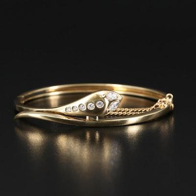 18K Diamond Snake Bracelet
