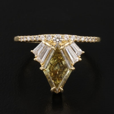 14K 1.92 CTW Diamond Ring with GIA Report