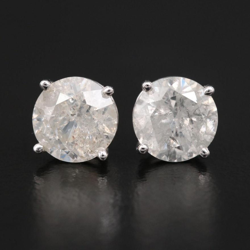 14K 4.03 CTW Diamond Stud Earrings