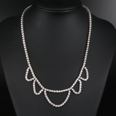 14K 3.72 CTW Diamond Festoon Necklace
