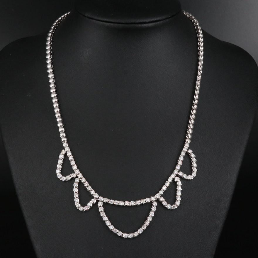 14K 3.72 CTW Diamond Festoon Necklace