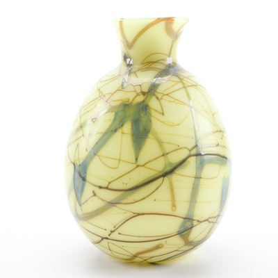 Dave Fetty for Fenton Limited Edition Art Glass Vase, 1975