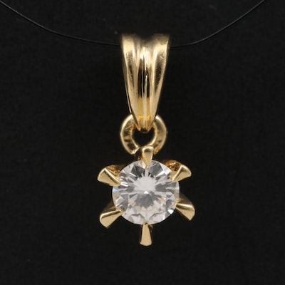 18K 0.20 CT Diamond Pendant