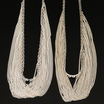 Sterling Festoon Necklaces