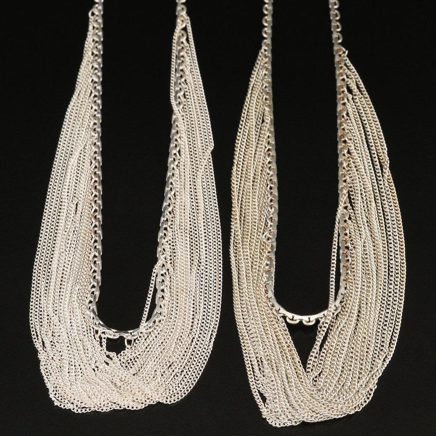 Sterling Festoon Necklaces