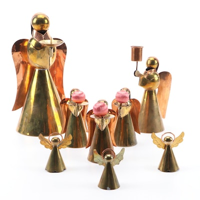 ADG, Pigeon Forge and Other Copper and Brass Angel Candleholders