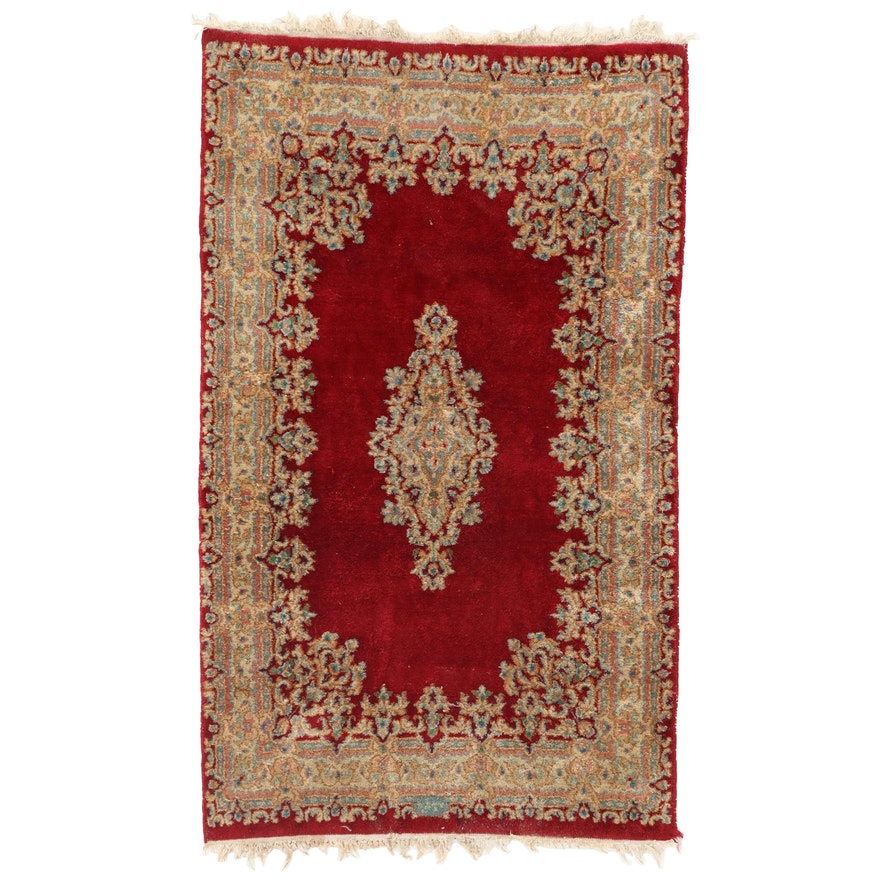2'11 x 5'2 Hand-Knotted Persian Kerman Area Rug