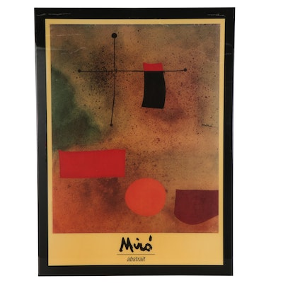 "Large-Scale Offset Lithograph Poster after Joan Miró ""Abstrait"""
