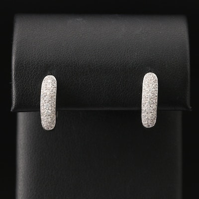 18K Diamond Hoop Earrings