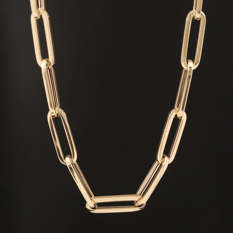 14K Oval Link Necklace