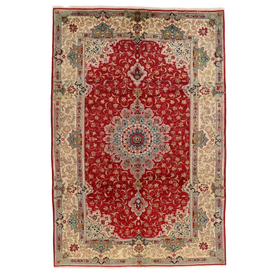 6'11 x 10'7 Hand-Knotted Persian Kashmar Area Rug