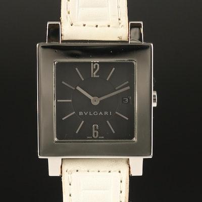 "BVLGARI ""Quadrato"" Stainless Steel Quartz Wristwatch"