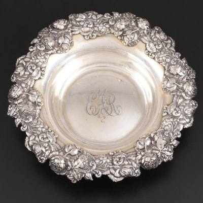 George W. Shiebler & Co. Repoussé Sterling Silver Serving Bowl, 1876–1910