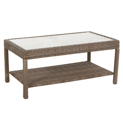 Wicker Patio Coffee Table, 21st Century