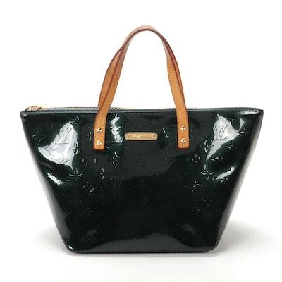 Louis Vuitton Bellevue PM in Vert Bronze Monogram Vernis Leather