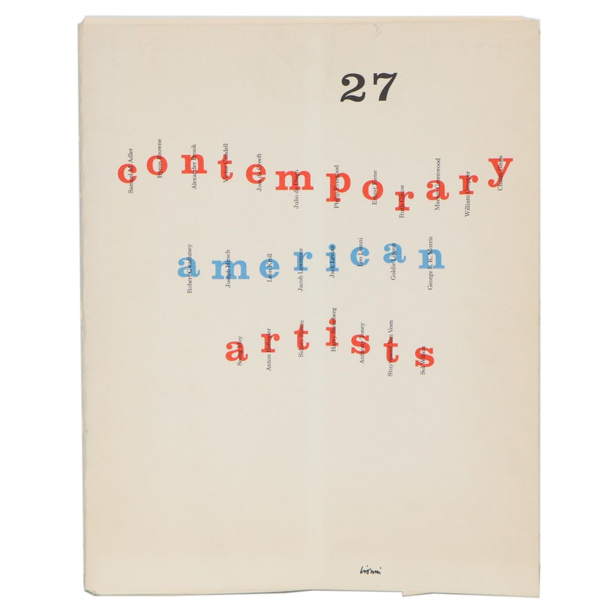 "Lithograph Portfolio ""27 Contemporary American Artists,"" Late 20th Century"