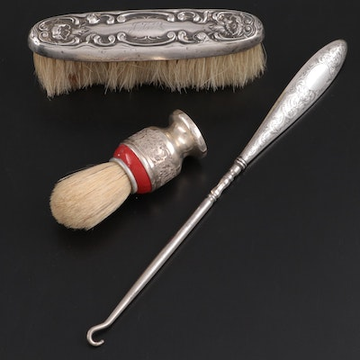 Eastwood-Park Co. Sterling Handled Button Hook with Other Sterling Vanity Items