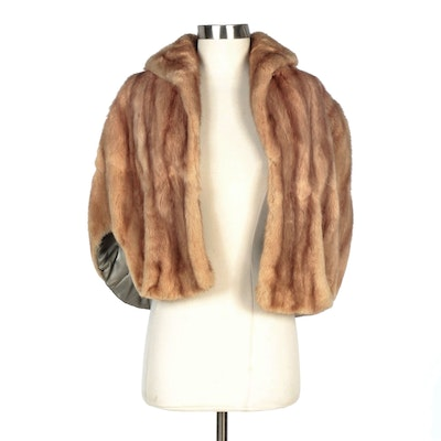 Blonde Squirrel Fur Stole with Shawl Collar by Avenue Montaigne Furs