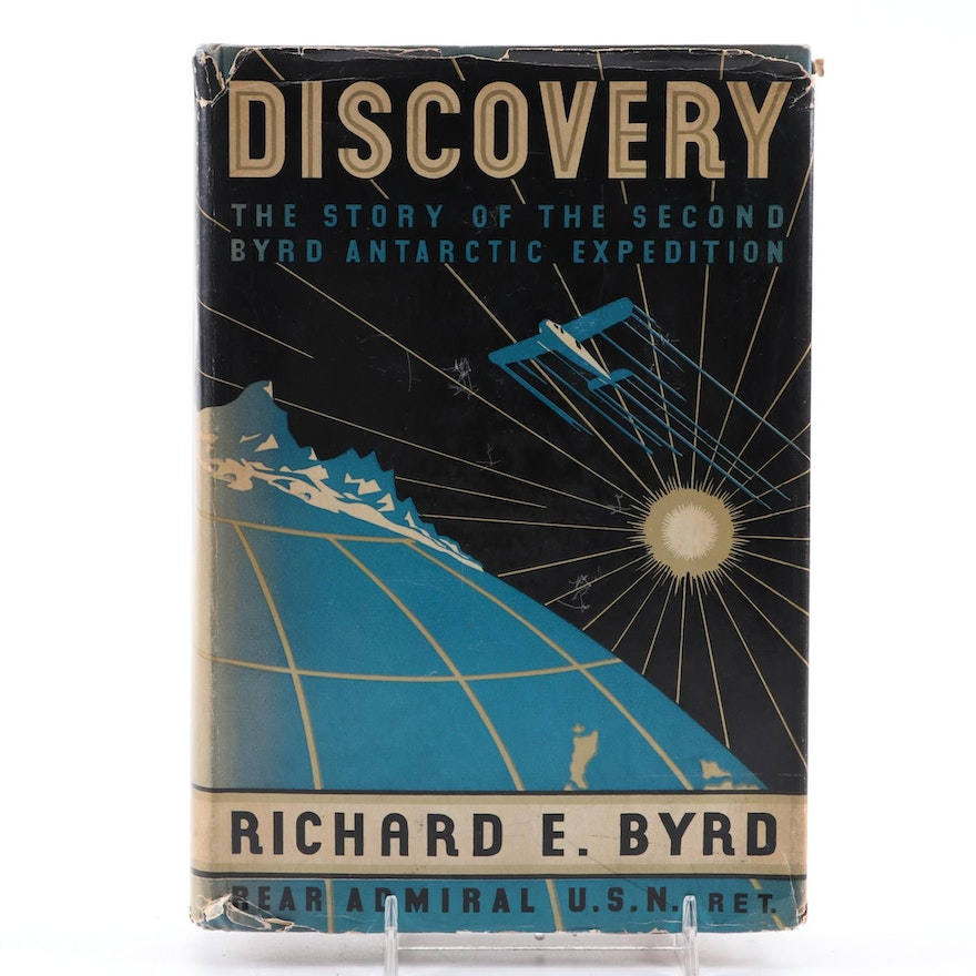 "Signed First Edition ""Discovery: The Second Expedition"" by Richard E. Byrd, 1935"