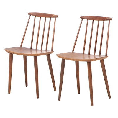 Pair of FDB Møbler Danish Modern Teak Side Chairs, Mid-20th Century