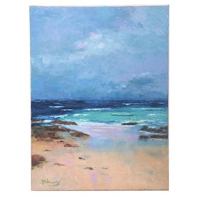 "James Baldoumas Oil Painting ""Coming Storm,"" 2021"