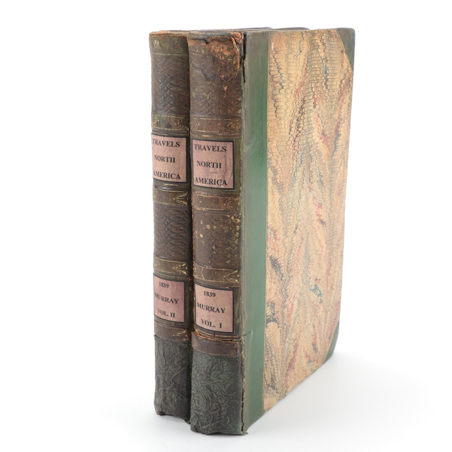 """""""Travels in North America"""" Two-Volume Set by Charles Augustus Murray, 1839"""
