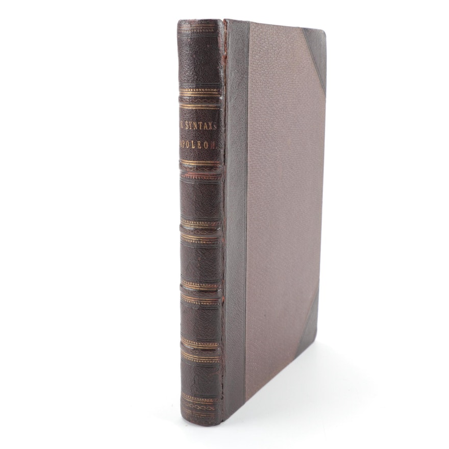 """First Edition """"The Life of Napoleon: A Hudibrastic in Fifteen Cantos,"""" 1815"""