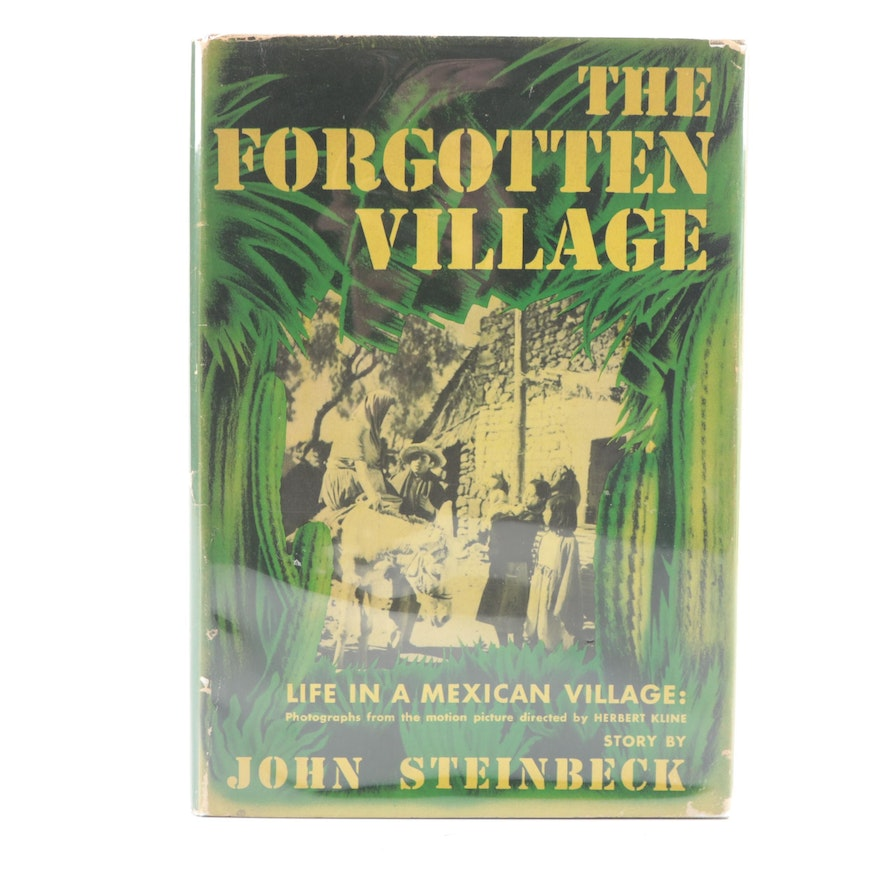 """First Edition """"The Forgotten Village"""" by John Steinbeck with Dust Jacket, 1941"""