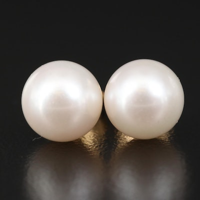 18K Pearl Stud Earrings