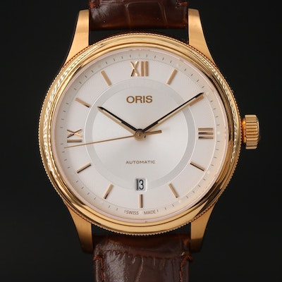 Oris Classic Date Stainless Steel Wristwatch